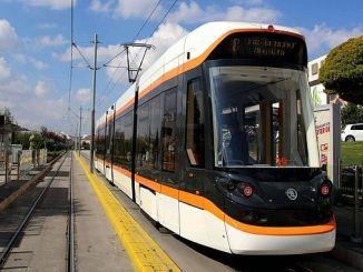 a tram stop in Eskisehir has changed more