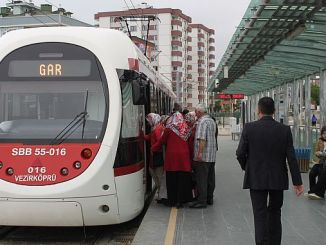 samsunda hoy tranvías y autobuses