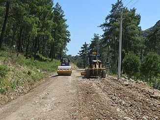 Sanierung von kaputten Straßen in Serik