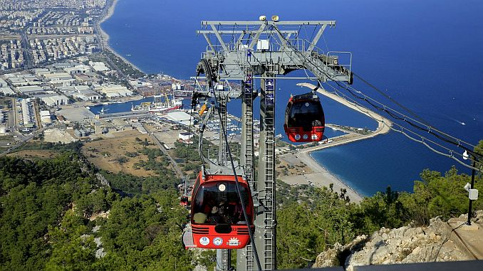 tunektepe cable car and women's plaza ready for a holiday