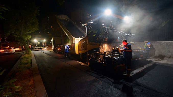 ankarada asphalt crews night gunduz