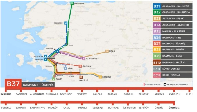 basmane odemis train schedule and map
