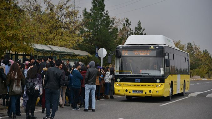 Free Transportation for Students to Take YKS in Diyarbakır