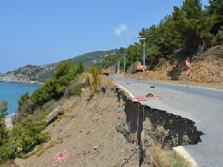 gazipasa alanya coastal road is being made safe