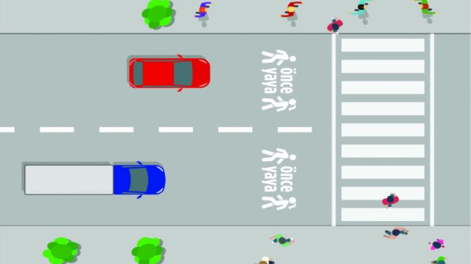 pedestrian priority traffic arrangement will be made