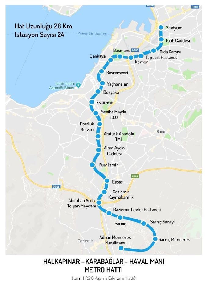 Измире еще одна линия метро