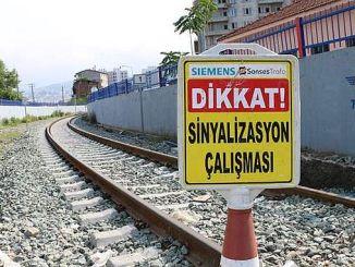 Samsun-Kalın Demiryolu Hattı Sinyalizasyona Takıldı