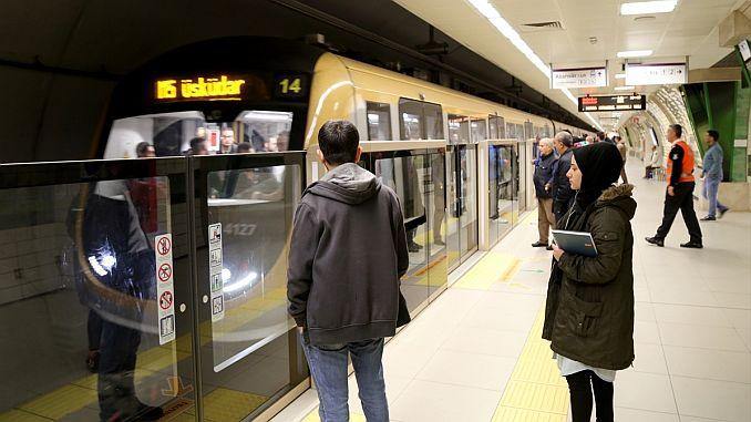 uskudar cekmekoy subway line passenger transport record