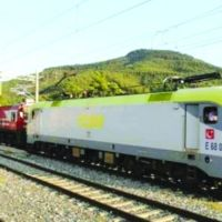 7 Electric Train Arrives in Bursa