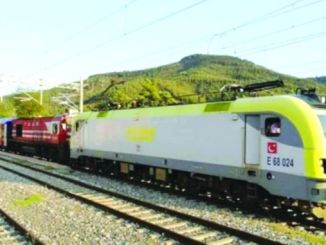 electric train arrives in Bursa