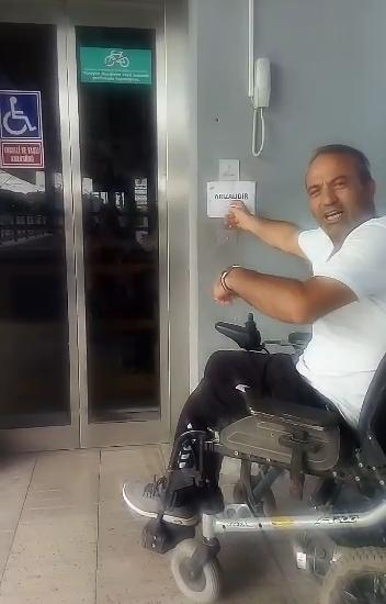 Aliaga Izban station elevator for disabled people