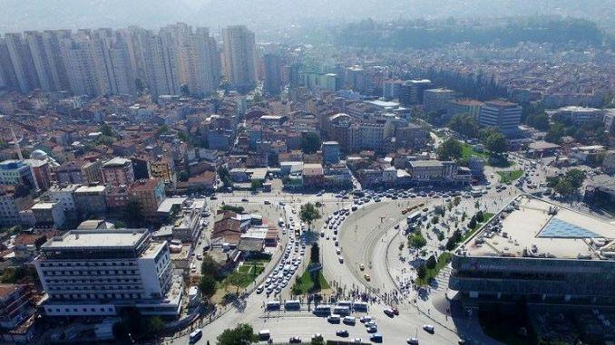 Bursa শহুরে বর্গ ট্রাফিক রেল সেটিং
