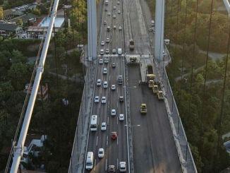 Fatih Sultan Mehmet ब्रिज asphalting काम खत्म भएको छ