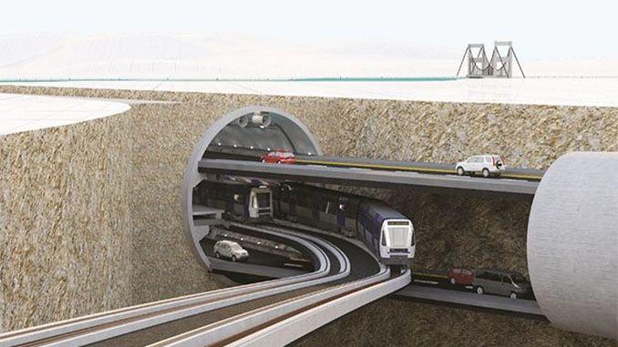 Modelo koi para el canal de Estambul y los grandes proyectos del túnel de Estambul del piso