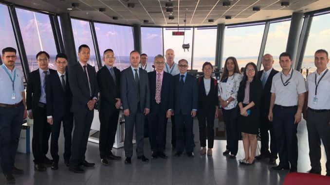 singapur aviation delegation viewed istanbul airport tower