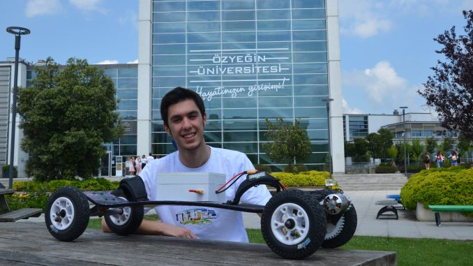 university student produced his own electric skateboard
