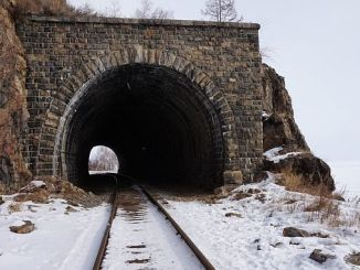 railway snow tunnel
