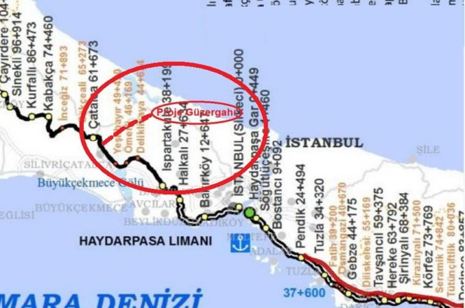 first step for catalca railway line in istanbul airport