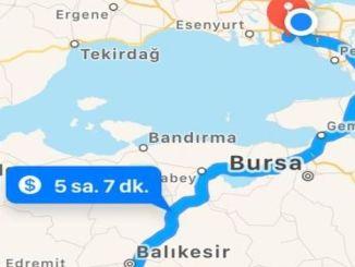 이스탄불 이즈미르 새로운 고속도로 테스트