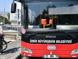 იზმირში ველოსიპედის დასაკეცი ავტობუსის ნებართვა