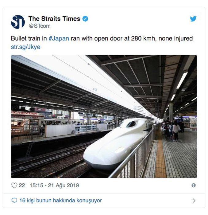 Japonia, trenaren atea orduko abiadurarako espedizio irekia egin zuen