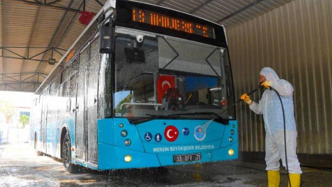 ניקוי אוטובוסים עירוניים במרסין