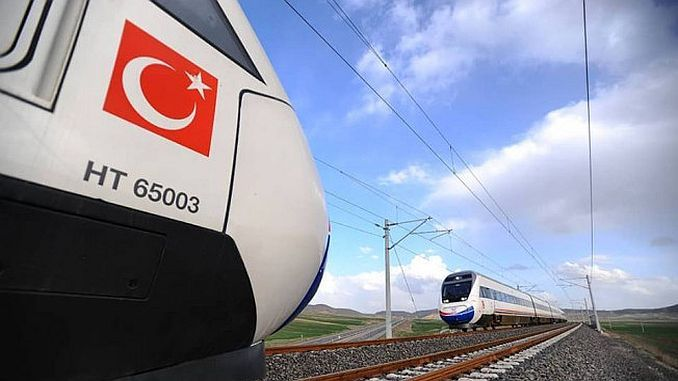 trabzon erzincan fast railway line will be how many kilometers