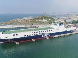 un ro ro dfds- ը գործարկում է իր երկրորդ հսկա նավի տրոյական ծովային ճանապարհները