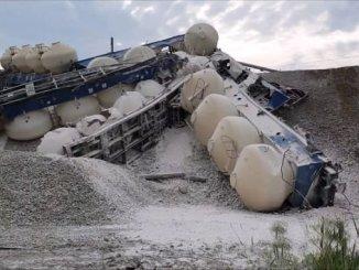 momentos nos que o tren de iuk descarrilou