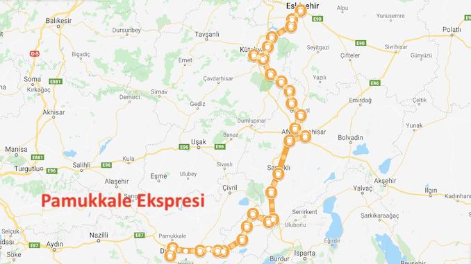 Carte Pamukkale Express