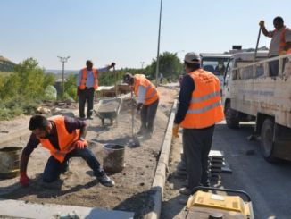 diyarbakir damaged and half the remaining pavements are being repaired