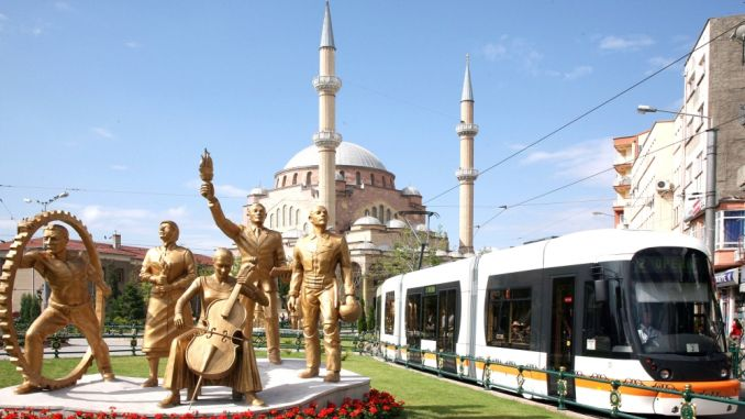 tram services in eskisehir were compacted