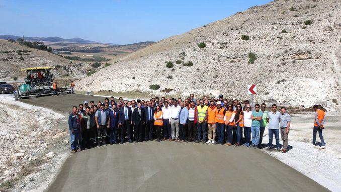 kilometer concrete road completed in eskisehir