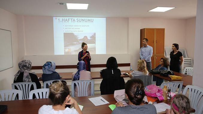 Eskişehir women car care course