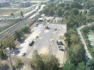 gebze fatih train station is being built car parking