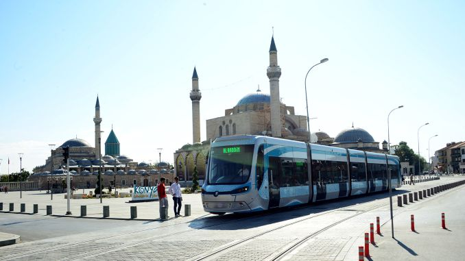 Historia dos tranvías en Konya