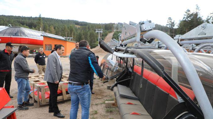 sarikamis ski resort is preparing for winter season