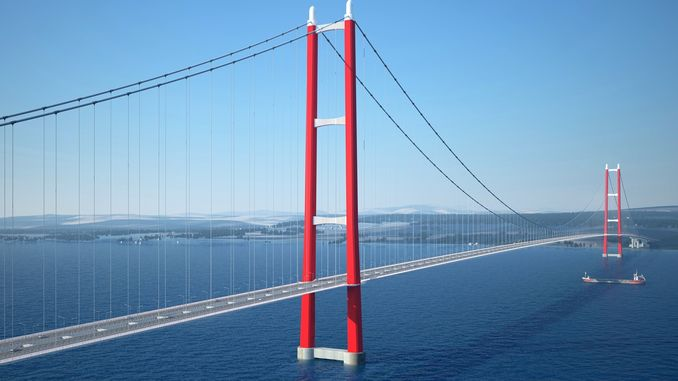 canakkale bridge marks the region