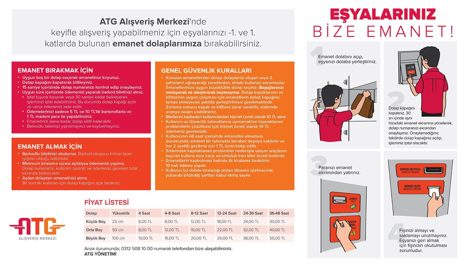 Ankara YHT Gari Safety Cabinet Fees