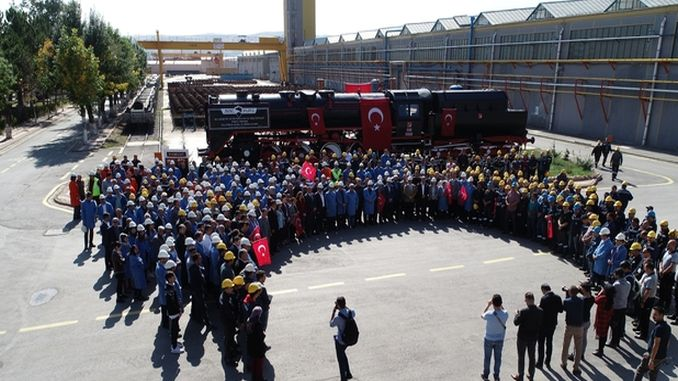 TUDEMSAS Employees Prayed Conquest in Bozkurt Locomotive