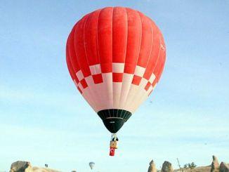 Turkey's first domestic hot air balloon