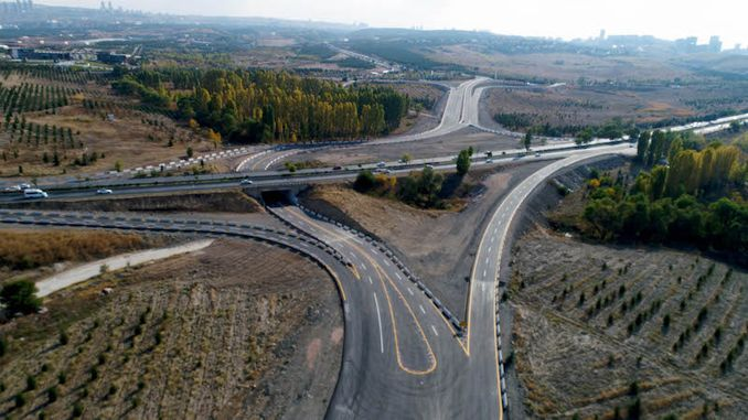 ankara traffic relieves with connection roads