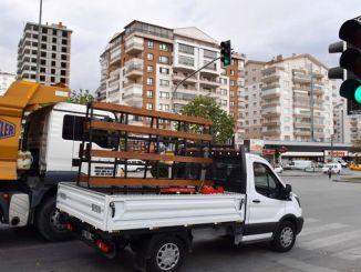 grøn flash-applikation er blevet fjernet i trafiklys i Ankara