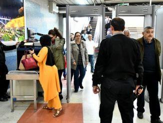 首都アンカラと地下鉄駅のセキュリティ問題