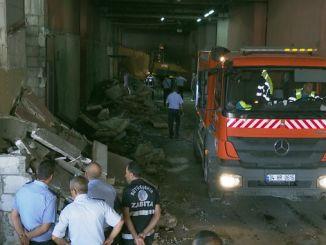 uničene stavbe na avtobusni postaji esenler so bile uničene