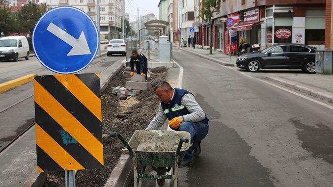 עבודות טראם באיסשייר העבירו עבודות ברחוב ובשדרות