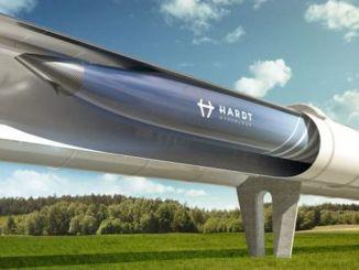 Hyperloop-Zug in Betrieb sein von