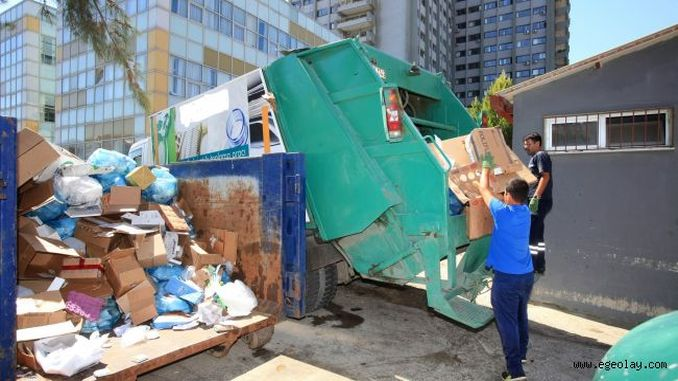 million tons of waste collected in municipalities in izmir