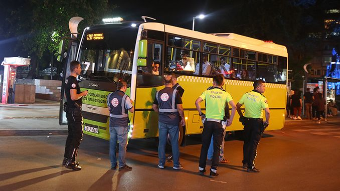 public buses inspected for safe transportation