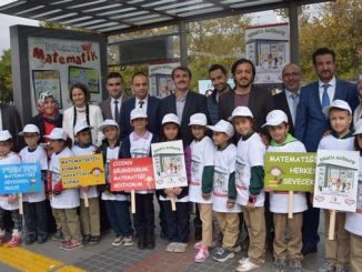 citizens waiting in the station with the project of the elementary school in Konya will love mathematics